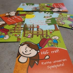 Flyerdesign und Illustration Grinderwald Spielplatz Linsburg