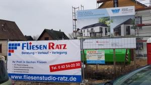 Bauzaunbanner Fliesen Ratz
