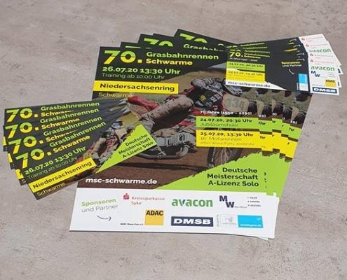 Flyer und Plakate als Sponsoring