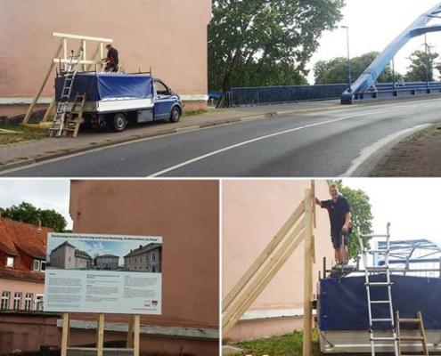 Infotafel Grafenschloss Umbau