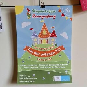 Plakate als Sponsoring für Kinderkrippe