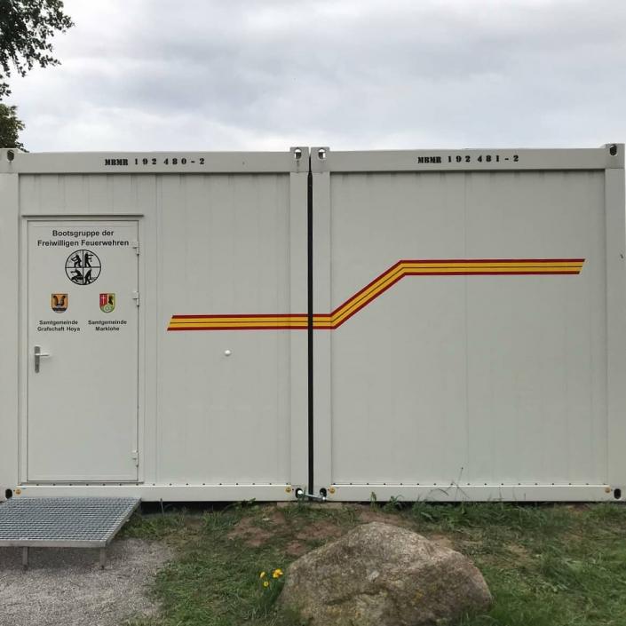 Containerbeschriftung Feuerwehr Hoya